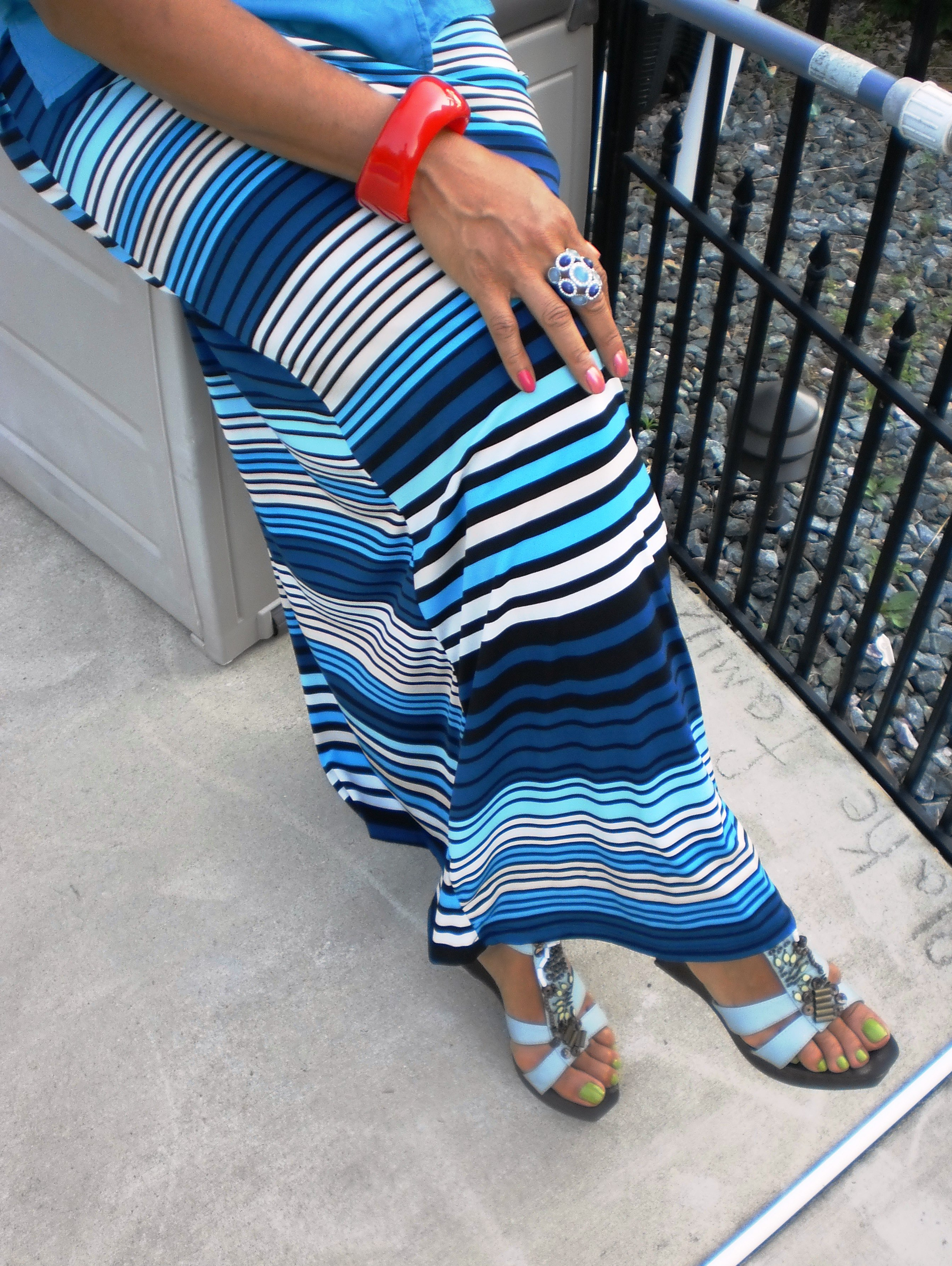 ootd maxi dress to maxi skirt at work fashion and