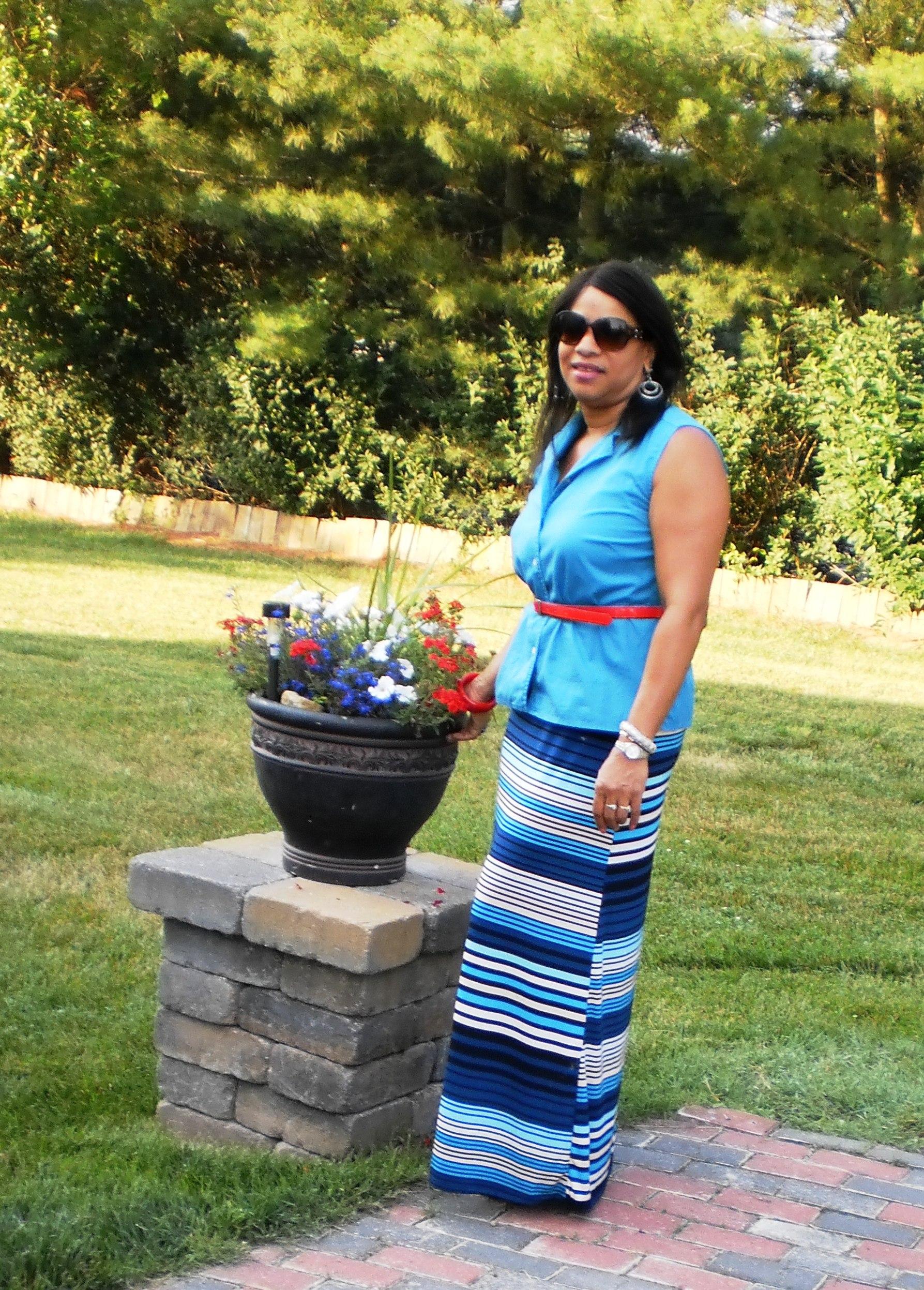 ootd maxi dress to maxi skirt at work dedivahdeals