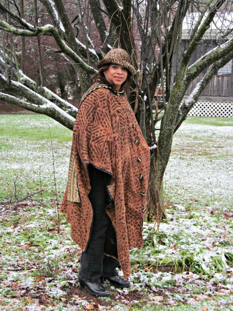 African Mud Cloth Cape
