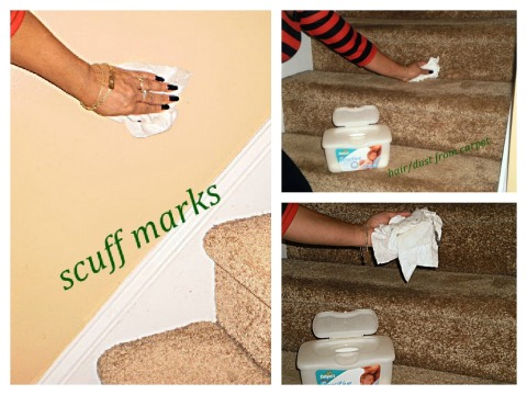 Baby wipes for the carpet