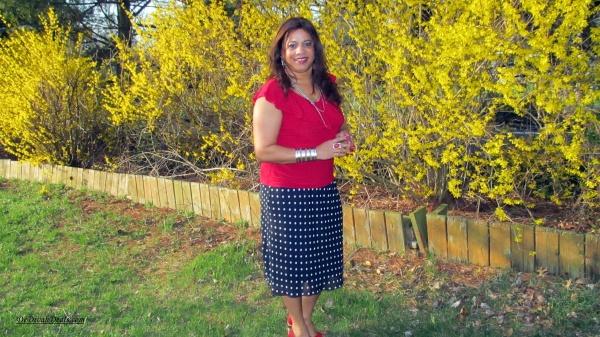 Polka Dot Skirt thrifted from Goodwill