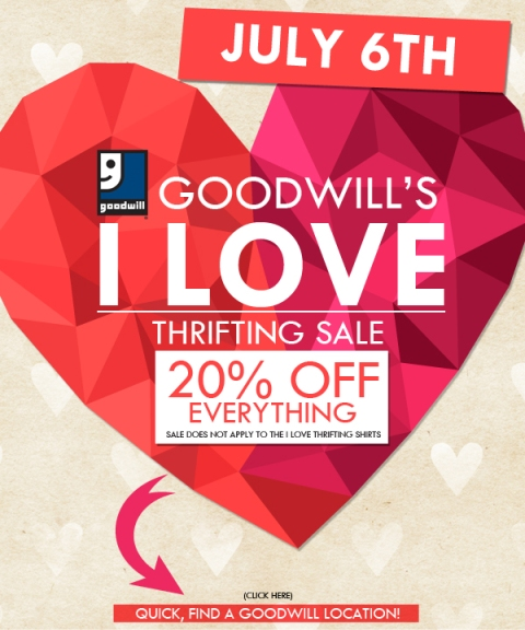 goodwill july sale