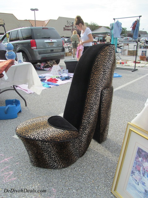 Leopard Print Shoe Chair